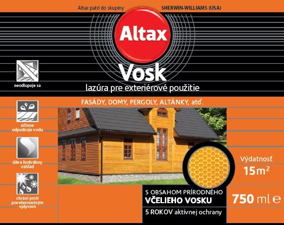 Lazura na dřevo VOSK 2,5L